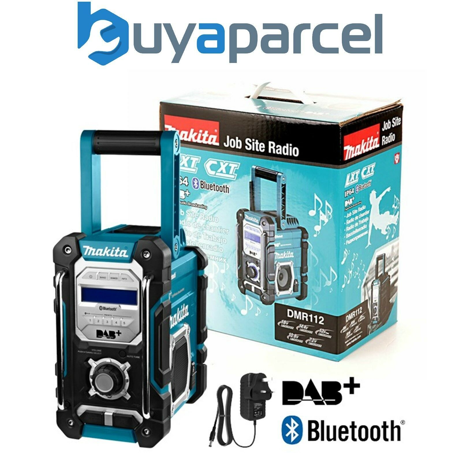 Details About Makita Dmr112 Digital Dab Site Radio Dab Bluetooth Usb Charger 18v Lxt 12v Cxt Site Radio Radio Bluetooth Radio