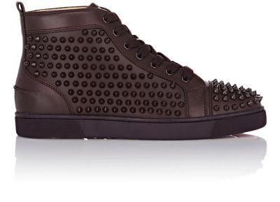 Christian Louboutin Spiked Louis Flat Sneakers at Barneys New York