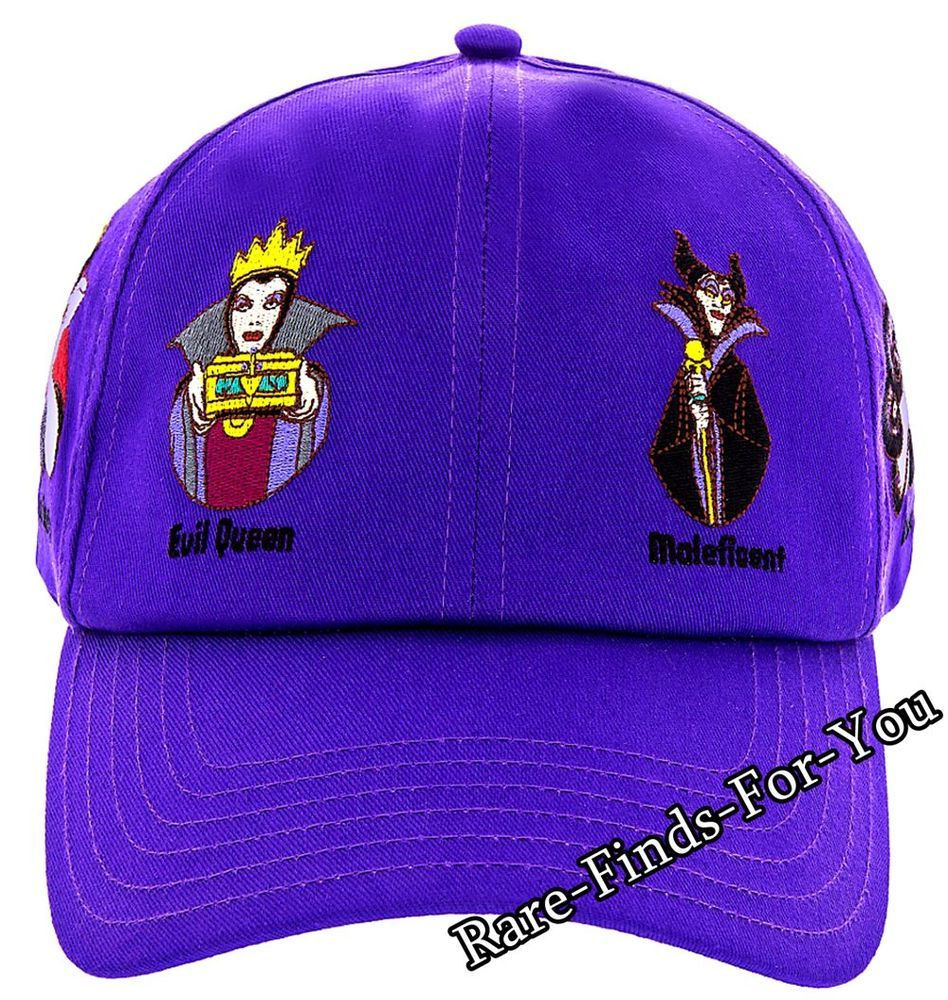 Disney Parks Villains Baseball Cap Hat Maleficent Ursula Cruella Evil Queen More Baseball Cap Cruella Hats