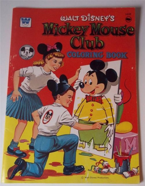 Items Similar To 1957 Micky Mouse Club Coloring Book By Walt Disney Productions On Etsy