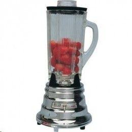 Batidora de 1,2 litros. Máquina rápida y practica para elaborar batidos, cocteles purés de frutas, sopas suaves  salsas en cuestión de segundos. Cuchilla de acero inoxidable, base de cromo.