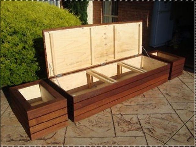 Plans For A Deck Storage Bench Outdoor Storage Bench Diy Bench