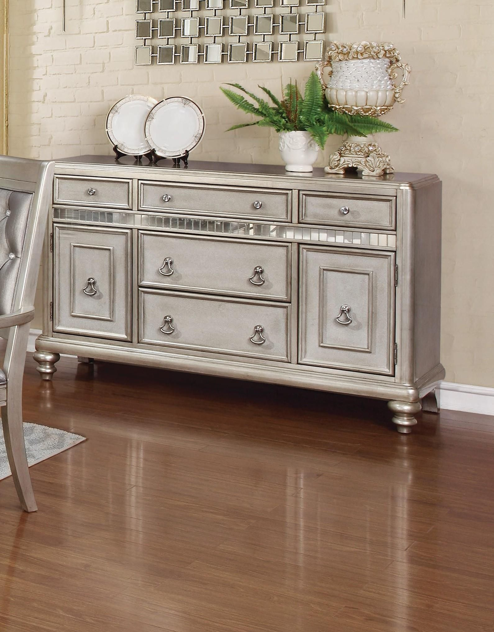 Bling Platinum Finish Server $599 Sale Contact Us For Info
