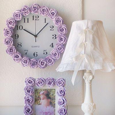 3dRose dpp/_26161/_2 Purple Gerbera Daisy Floral Art Wall Clock 13 by 13-Inch