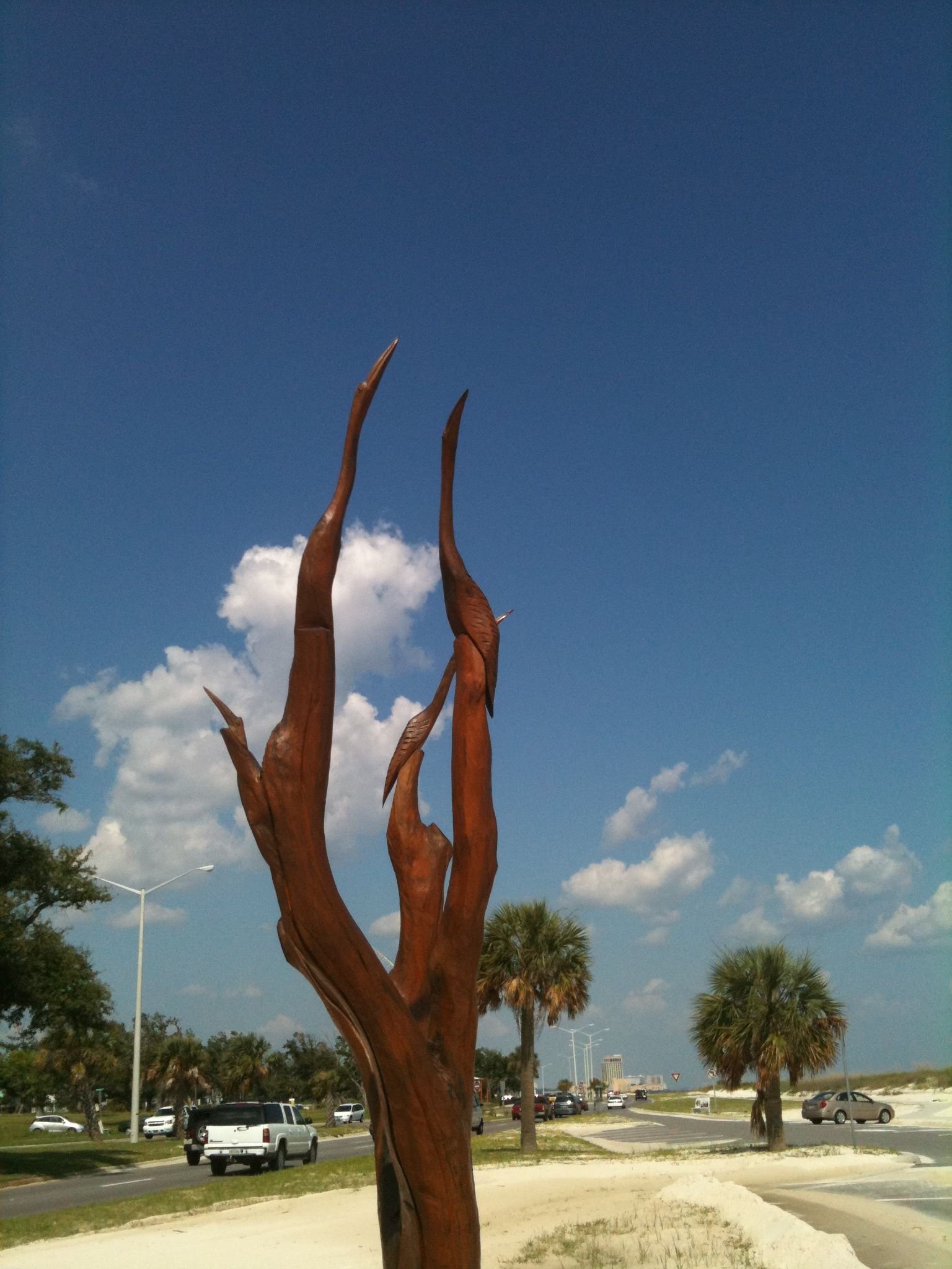 Biloxi, Mississippi Sculpture. These were all up the