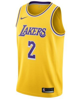 c7637b9c762b Nike Men s Lonzo Ball Los Angeles Lakers Icon Swingman Jersey - Gold XXL