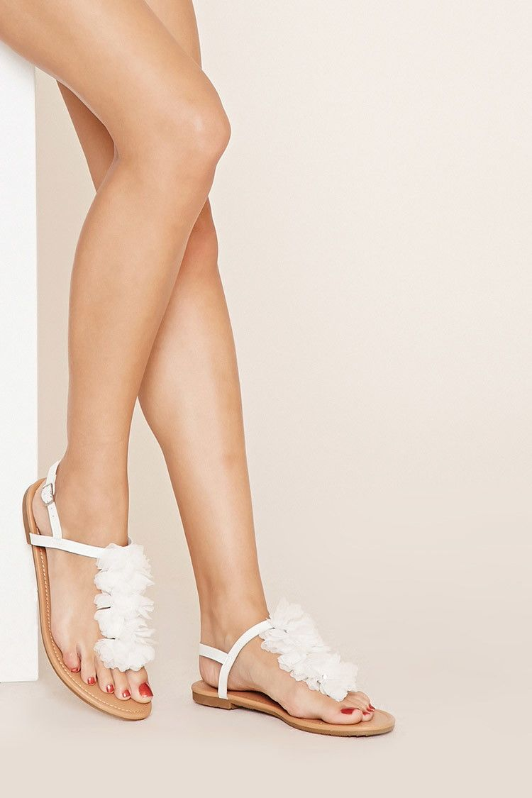 Sandals honeymoon shoes with rhinestone - Rhinestone Flower Sandals Forever 21 Shoes