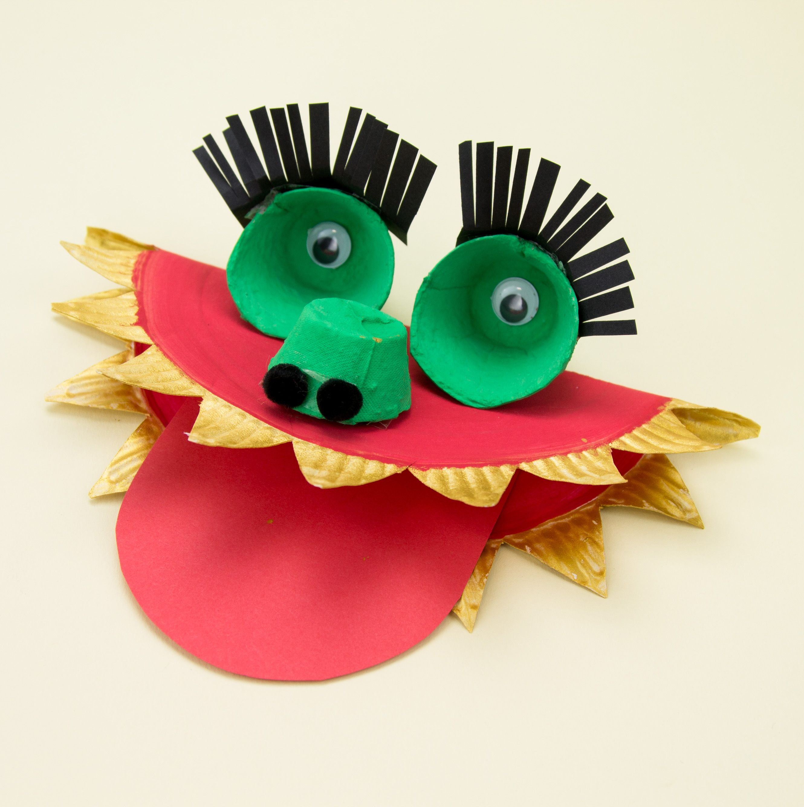 Paper Plate Dragon Craft Instructions - what a fab idea ...