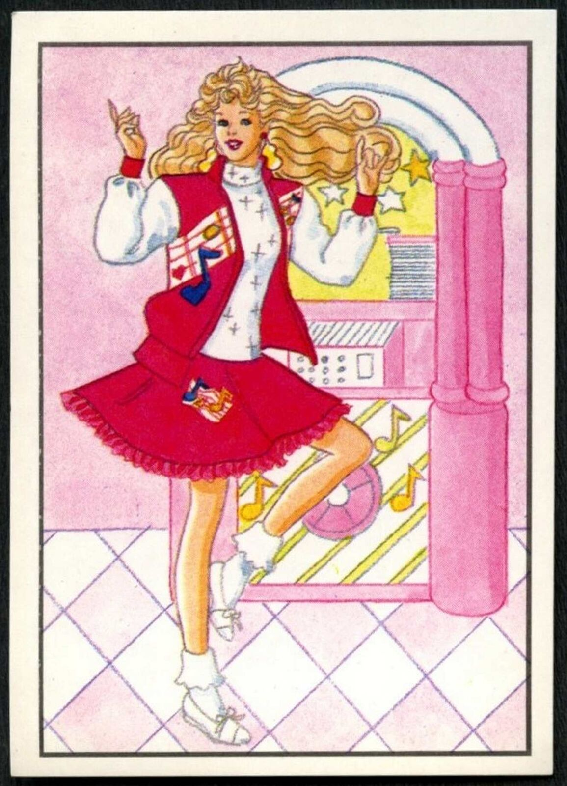 C858 Barbie #59 Mattel 1989 Panini Sticker
