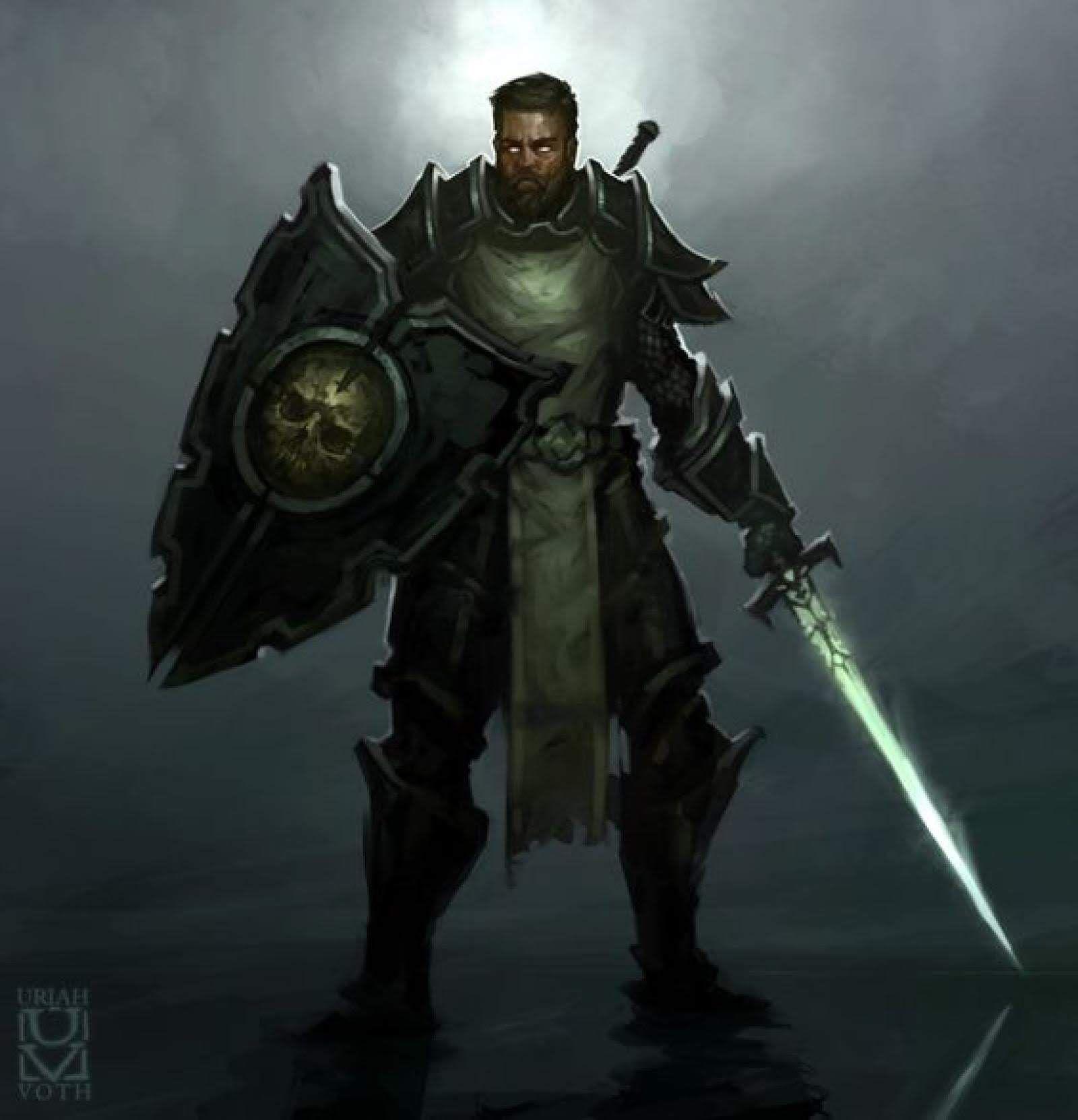 Pin by King Neon on Fantasy Character Art | Dark paladin, Dungeons and dragons characters, Paladin