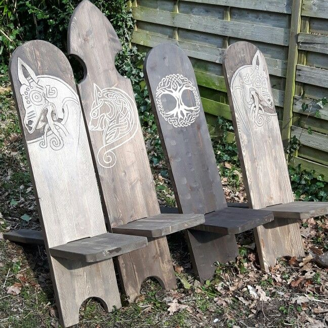 Reenactment chairs ( viking chair ) | Norse Symbols and Art. | Pinterest | Vikings, Woodworking ...