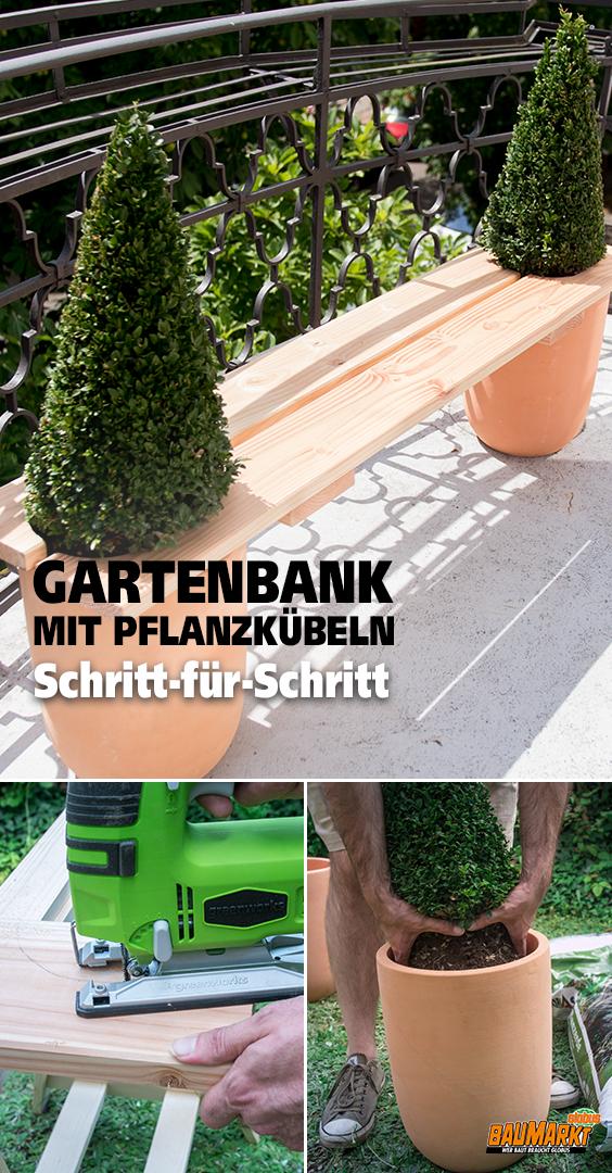 Gartenbank Mit Kubelpflanzen Selber Bauen Pflanzkubel Selber Bauen Pflanzen Palletenhaus