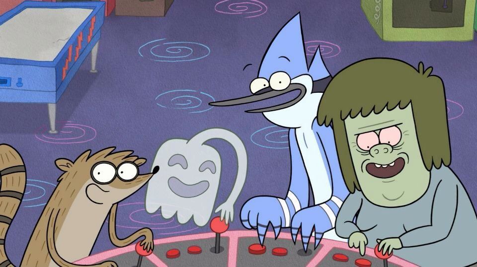 74272aa4 Regular Show. Rigby, Mordecai, Muscle man and High five ghost ...