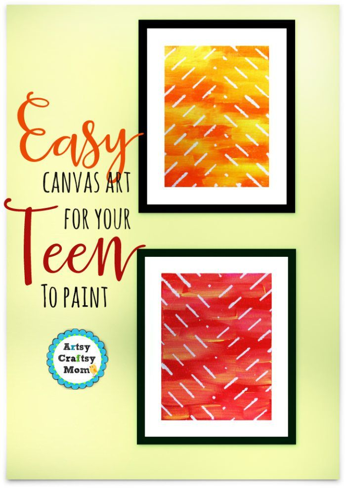 Easy Canvas Art For A Teenager