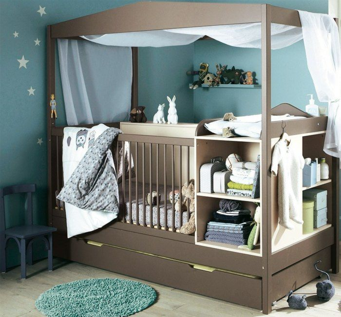 die besten 25 babybett mit himmel ideen auf pinterest. Black Bedroom Furniture Sets. Home Design Ideas