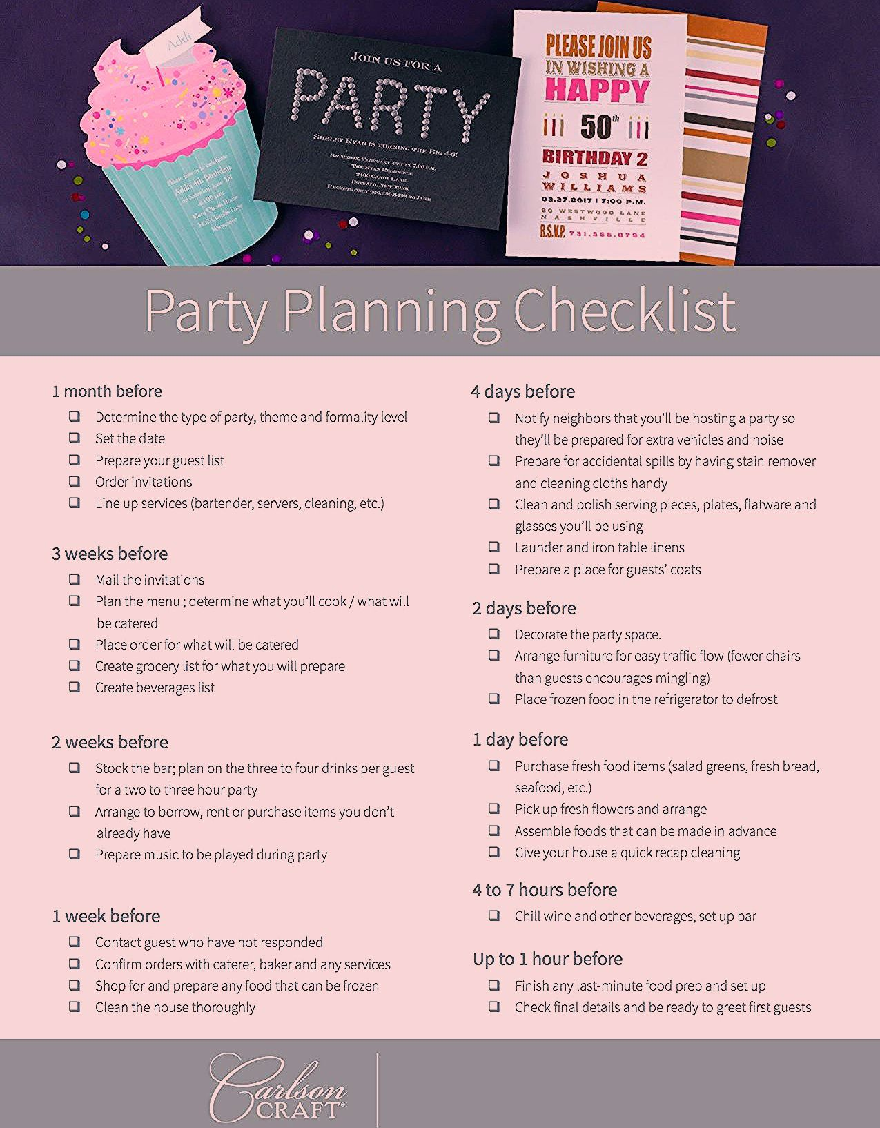 Photo of Party Planning Checklists and more!