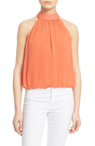 Alice   Olivia 'Maris' Gathered Halter Top available at #Nordstrom
