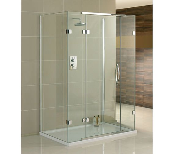Aquadart Inline 3 Sided Hinged Shower Door And Side Panels