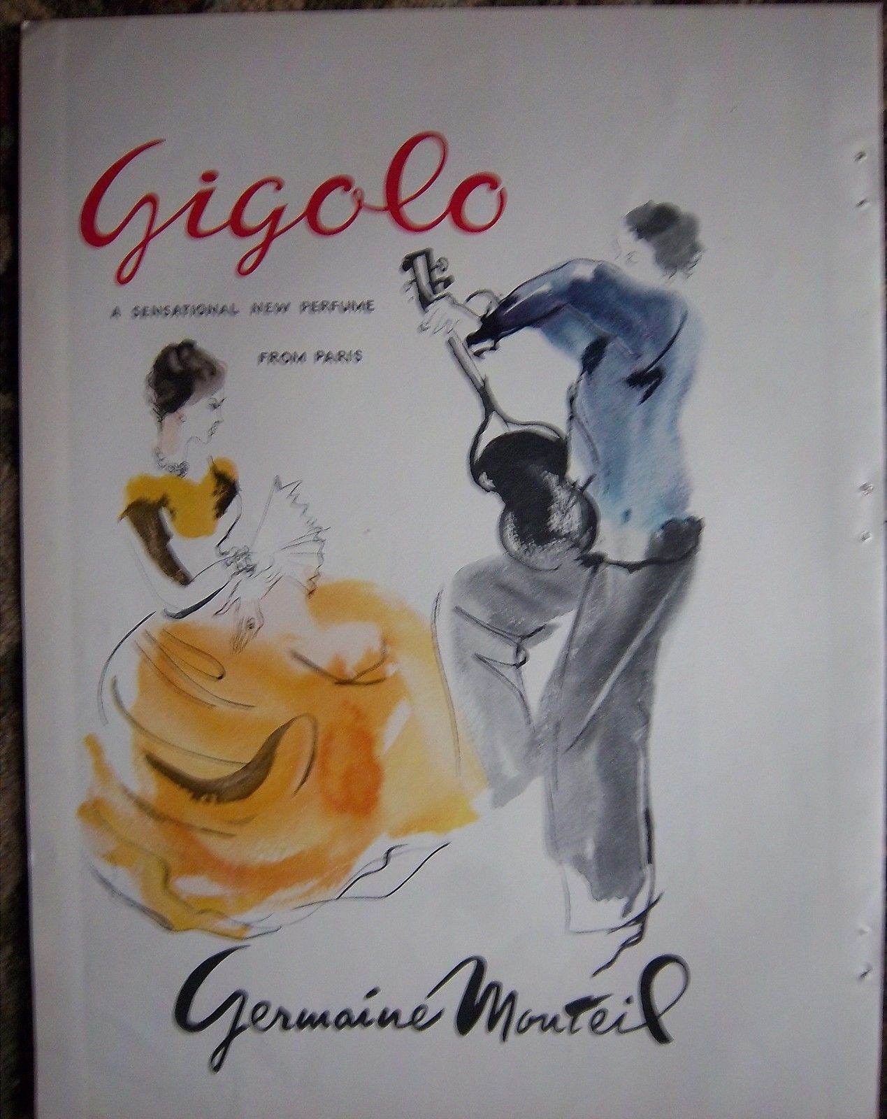 1951 Germaine Monteil Gigolo Perfume from Paris Color Ad | eBay