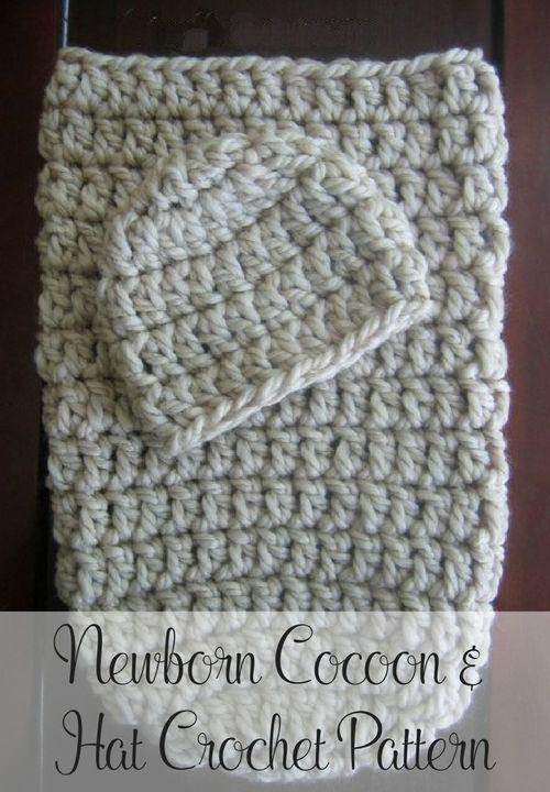 Free Crochet Cocoon & Hat Pattern   Sacos, Bebe y Bebé