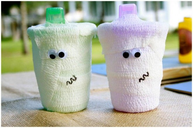 holidays halloween mummy sippy cups