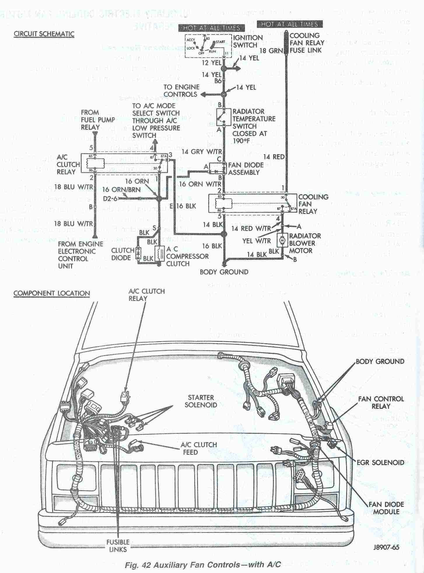 medium resolution of ac wiring diagram 2001 jeep wrangler wiring diagram view 1992 cherokee fan wiring diagram