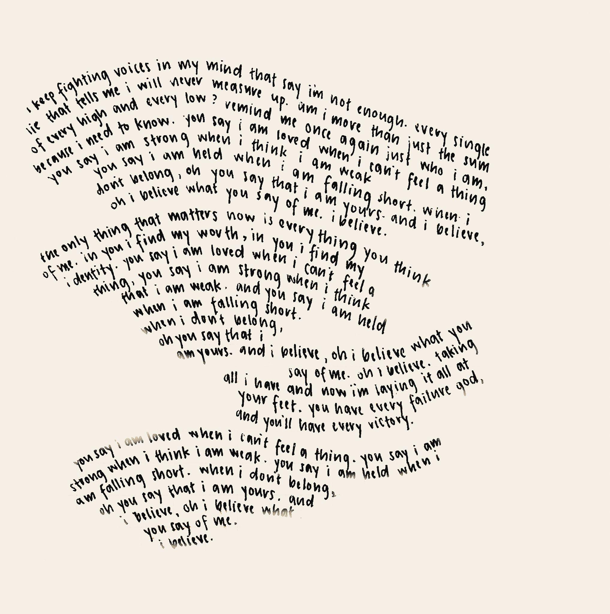 "LAUREN DAIGLE ""you Say"" Lyrics #laurendaigle #yousay"