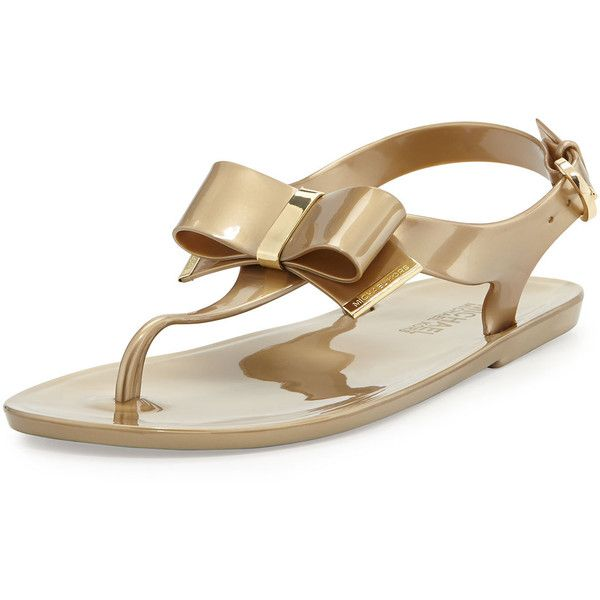 8c79cb6f7 MICHAEL Michael Kors Kayden Jelly Thong Sandal ( 84) ❤ liked on Polyvore  featuring shoes
