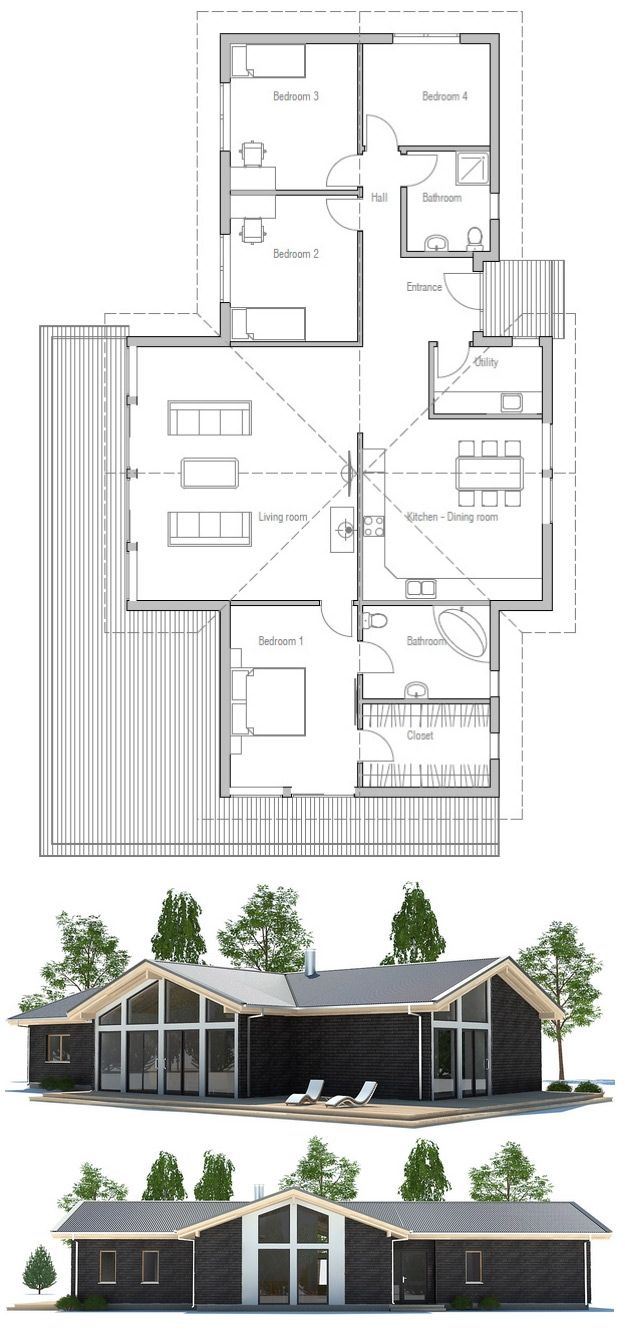 Love this plan i would move utility space to bedroom 4 - How much to move a 4 bedroom house ...