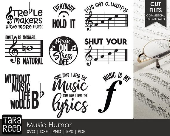 Music Humor - Music SVG and Cut Files for Crafters | SVG files