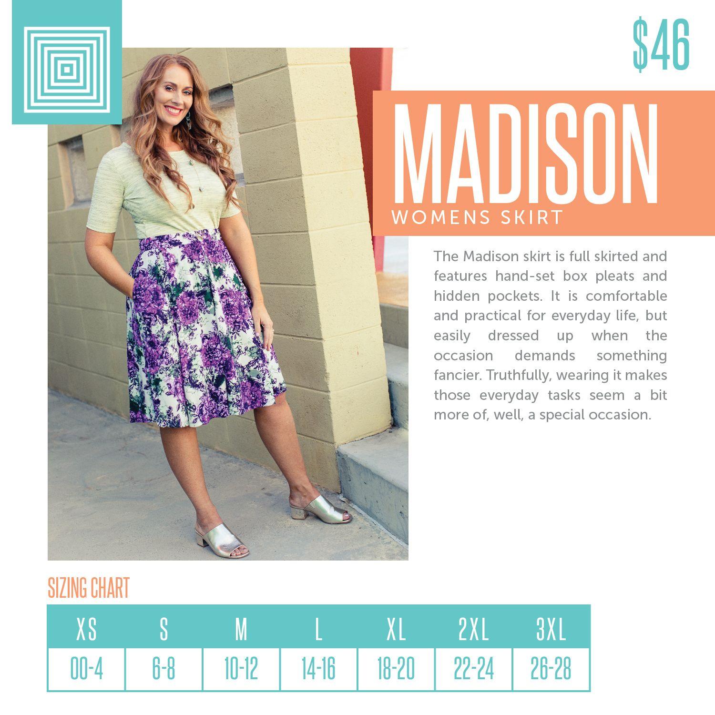 Lularoe Madison Skirt Size Xl Skirts Women's Clothing