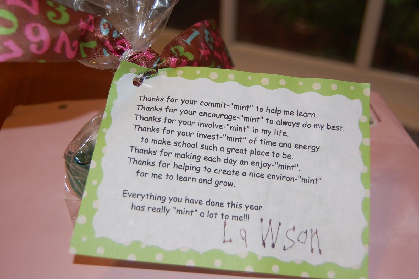 teacher appreciation poems with candy | Then for thank you ...
