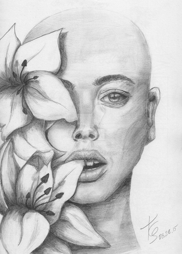 Pencil my tumblr kassy stay tumblr com beauty drawing flower flowers girl pencil portrait shading traditional traditionalart woman art