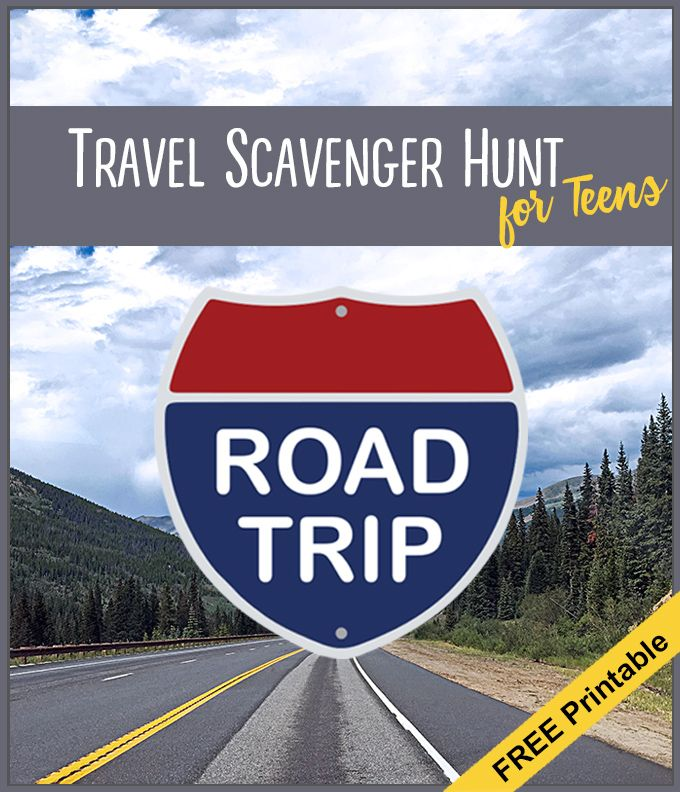 Road Trip: Printable Road Trip Scavenger Hunt For Teens