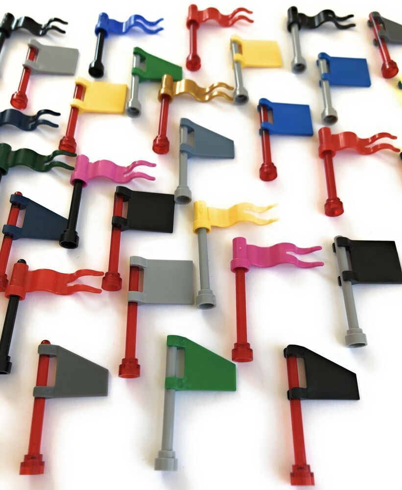 Lego Antenna Flag Pole lot of 10 from this huge lot