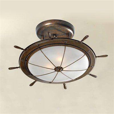 Leme Semi Flush Ceiling Light