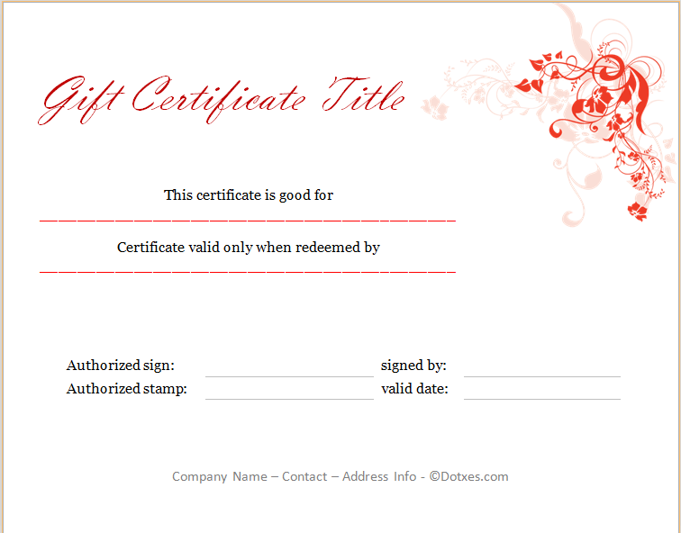 Holiday gift certificate template gift certificate templates 100 professional in appearance this holiday gift certificate template is user friendly and customizable so that you can customize it to fit your business yadclub Images