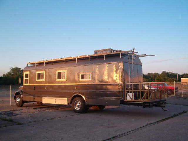 Deck W Rooftop Motor Homes Pinterest Rooftop Bus