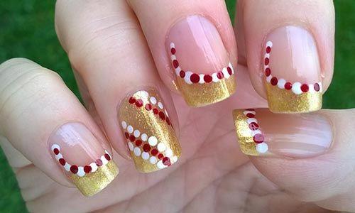 42 Candy Cane Christmas Nail Art Nails Pinterest Amazing