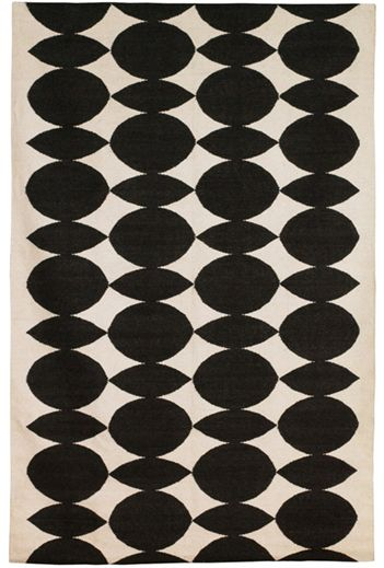 Black and White Delight: #DwellStudio Home Wool Rug Almonds Ink via Black and White Delight #interiors #rugs