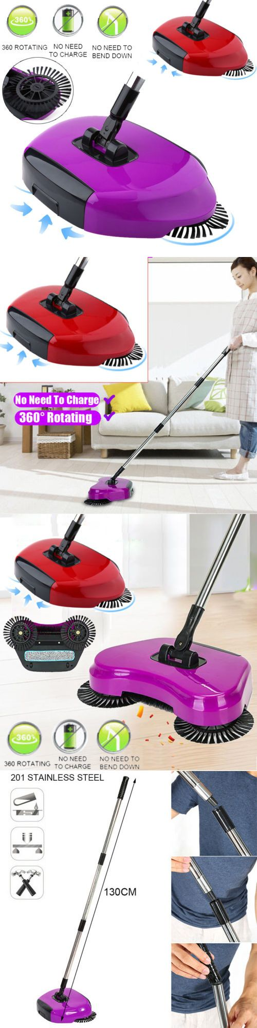 Carpet And Floor Sweepers 79657 Automatic Spin Hand Push Sweeper Broom Household Clean No Electricity Ma Shoe Storage Stackable Plastic Drawers Floor Sweepers