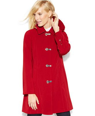 London Fog Petite Hooded Raincoat - Coats - Women - Macy's ...