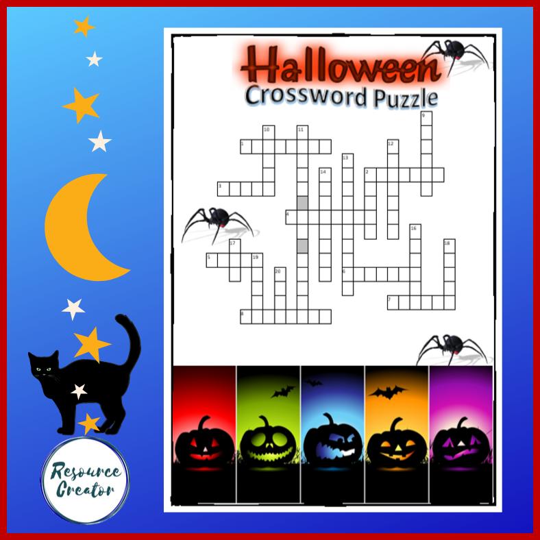 Halloween Crossword Puzzle (With images) Halloween