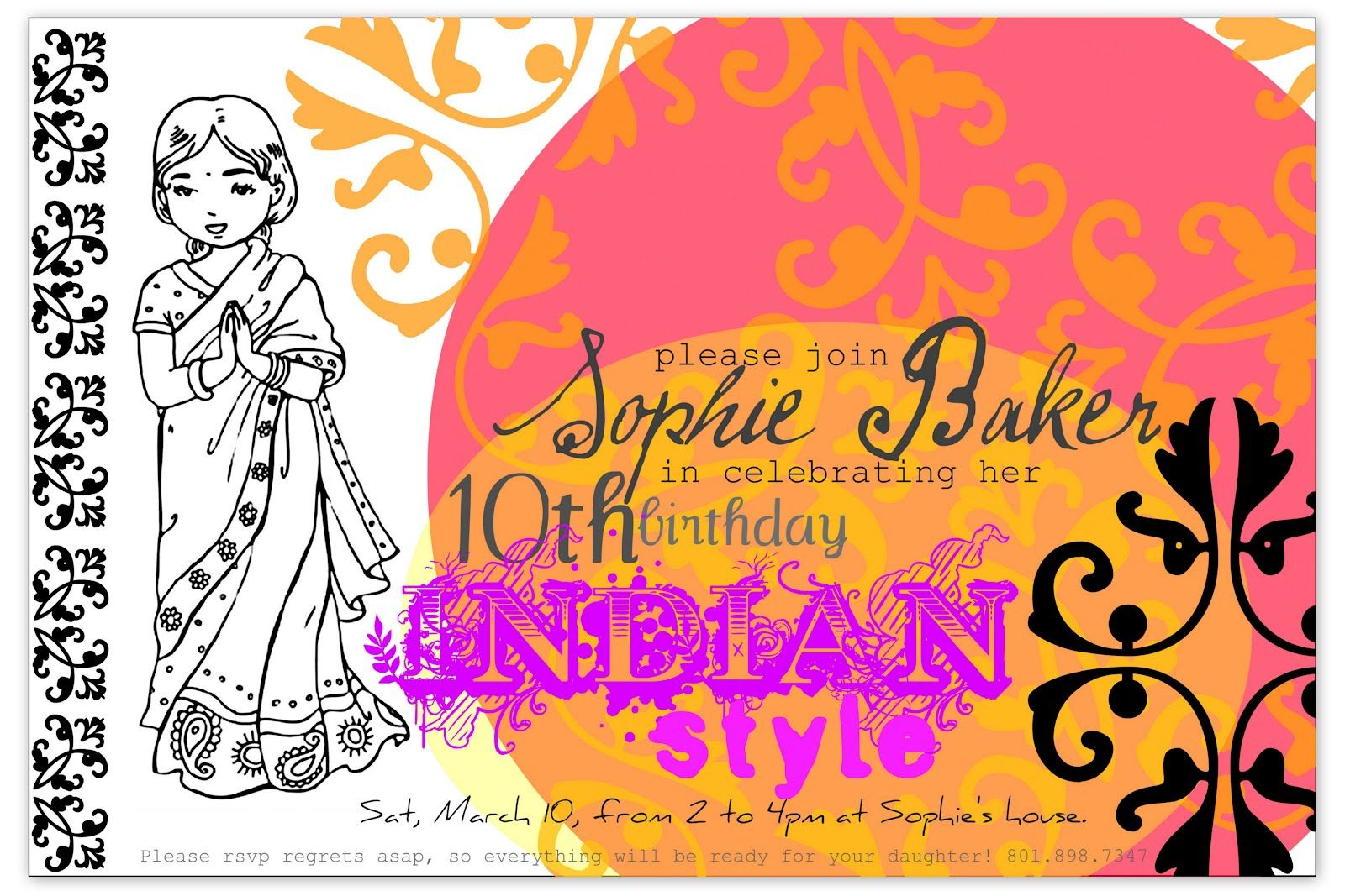 Bollywood Party Invitation Template Restless Risa