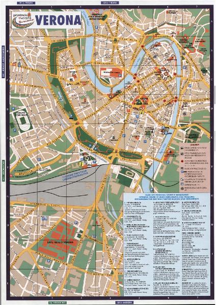 Verona Tourist Map Venice Florence In 2019 Pinterest Tourist