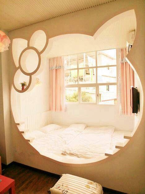 Hello Kitty Bedroom Kawaii Kawaii Decor Pinterest Hello
