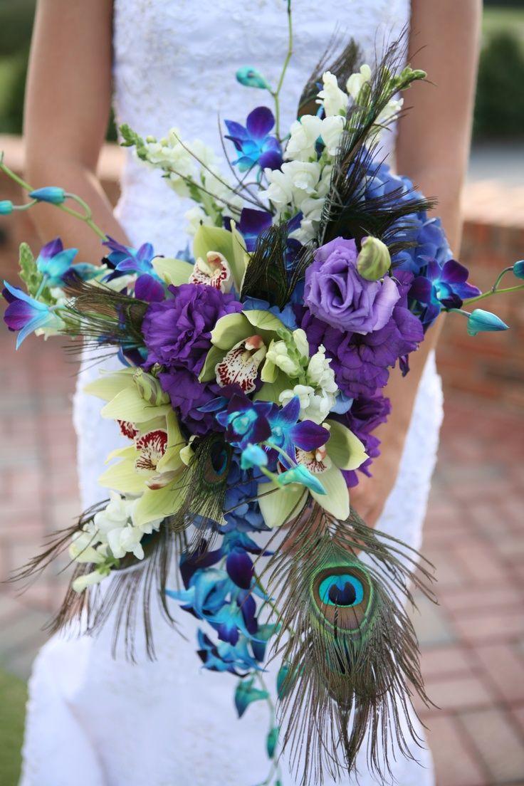 Peacock Wedding Bouquets Stuff Ideas