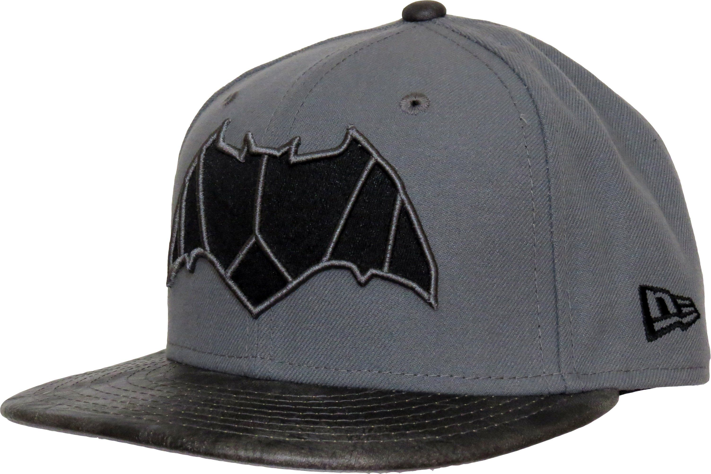 New Era 950 Justice League Snapback Cap Grey With Batman Front Logo The New Era And Justice League Side Logos And The L Snapback Cap New Era Leather Fashion