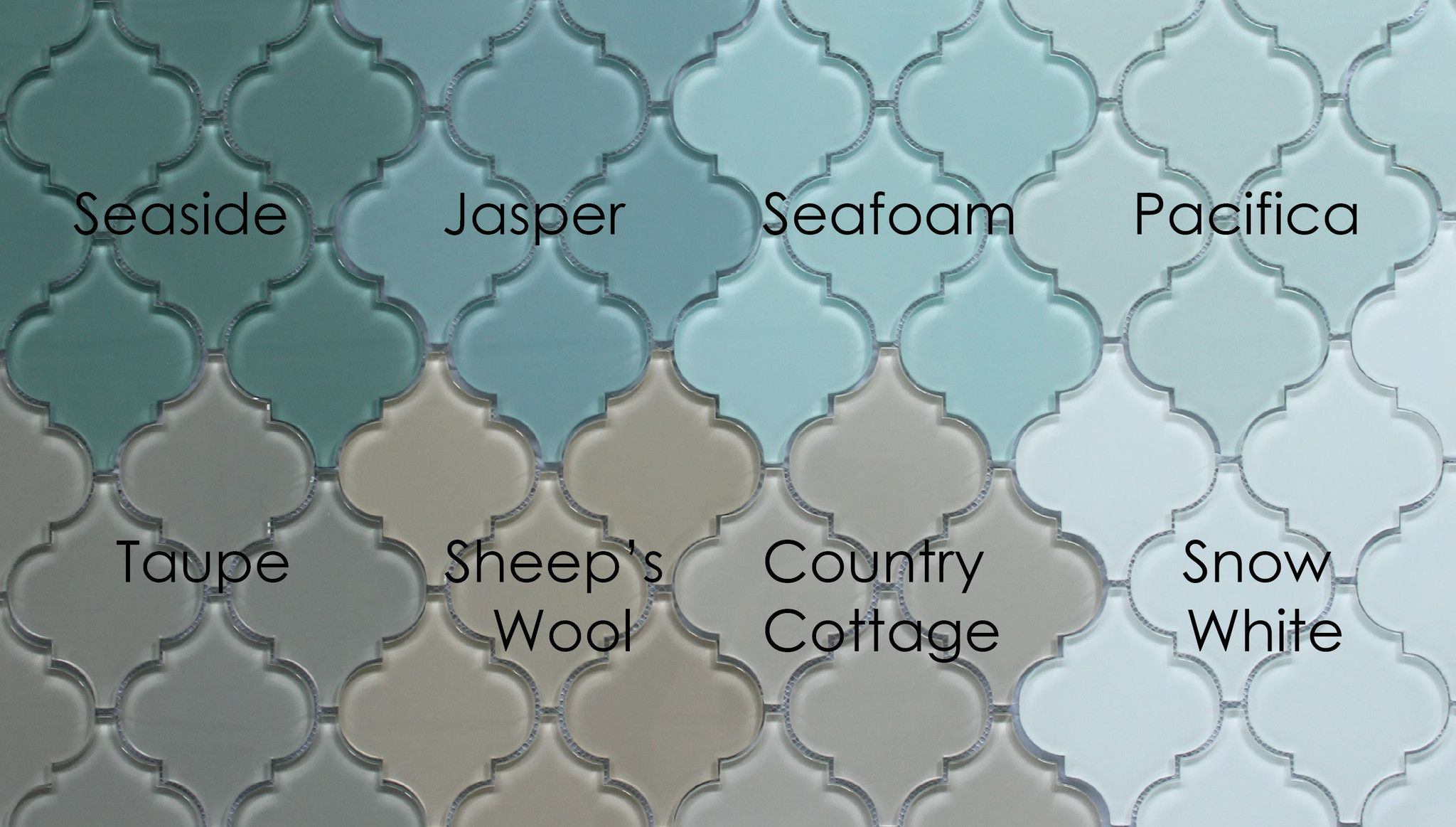 Pacifica Arabesque Gl Mosaic Tiles Rocky Point Tile And