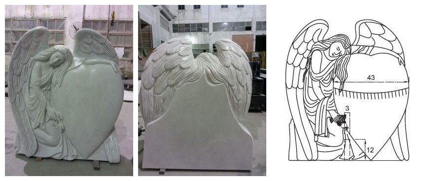 Hunan White Marble Angel Monument